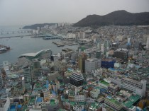 View of Busan from top of Busan Tower.