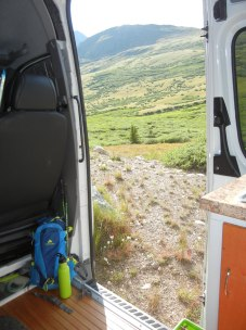 Back to HaRVy, our RV, rehydrating. Such a beautiful view every direction!