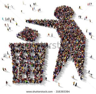 stock-photo-large-group-of-people-seen-from-above-gathered-together-in-the-shape-of-a-symbol-of-a-man-next-to-a-316393394